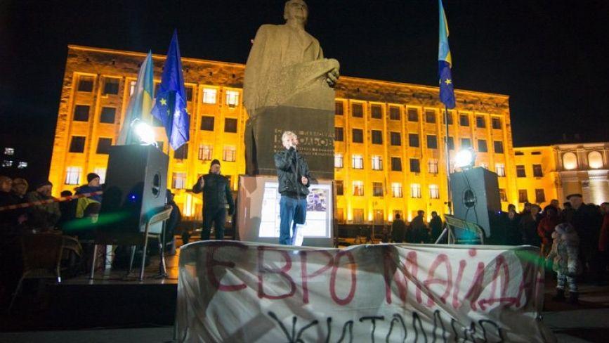 21 листопада – річниця Євромайдану. Як це було у Житомирі? Фото