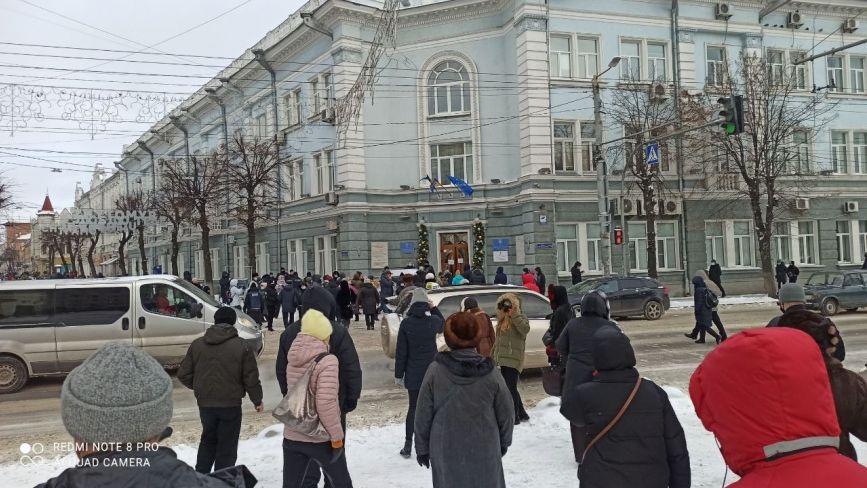 «У вас є час до 18 січня»: мітингувальники рушили до Житомирської міської ради