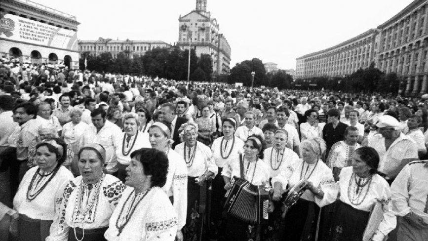 30 років тому Україна вперше відзначила День Незалежності: унікальні фото святкування