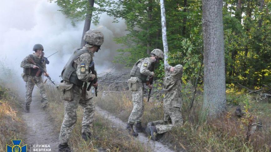 СБУ провела масштабні антитерористичні навчання поблизу північного кордону України