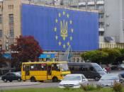 У Житомирі встановили найбільший рекордний прапор ЄС в Україні