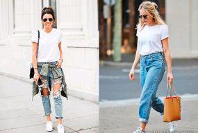 Джинсы и футболка: два беспроигрышных образа