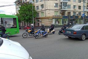 У День Європи в Житомирі відбувся пробіг мотоциклістів вулицями міста. ФОТО. ВІДЕО