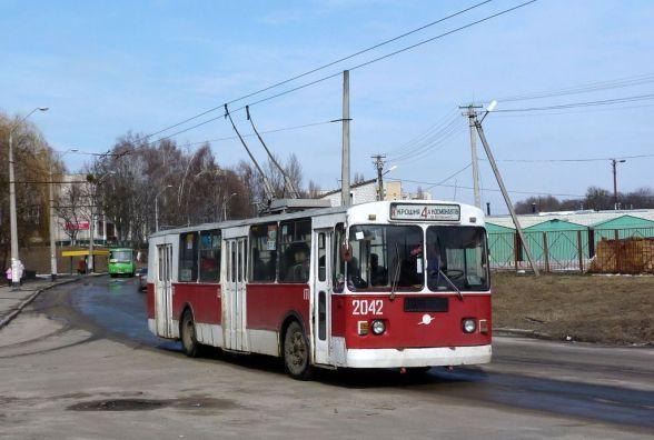 У Житомирі змінили рух тролейбусних маршрутів 4 і 4-А