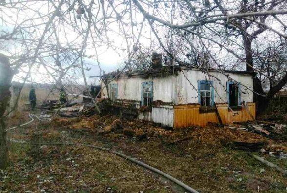 На Житомирщині під час пожежі МНСники врятували жінку