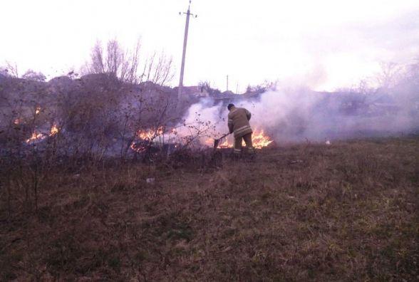 У Житомирській області за добу рятувальники ліквідували 9 загорянь в екосистемах