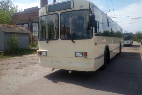 Житомирське ТТУ продемонструвало перший модернізований тролейбус власного виробництва
