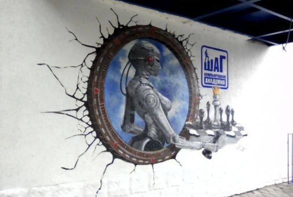 У Житомирі на стіні будинку з'явився перший 3D малюнок