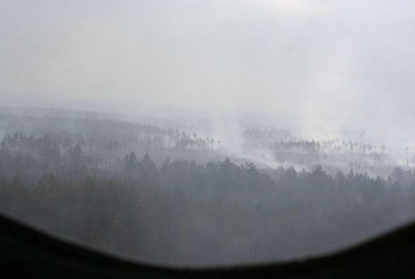 Пожежу в Поліському природному заповіднику локалізовано, але вогнеборці продожують працювати над її ліквідацією