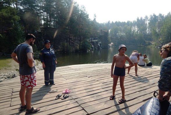 Житомирські рятувальники закликають не проводити дозвілля у місцях стихійного відпочинку біля води