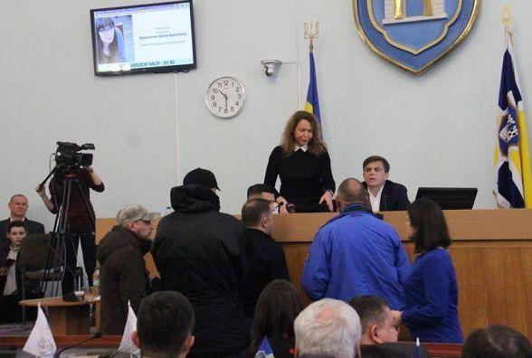 Початок сесії Житомирської міськради зірвали представники «Айдару»