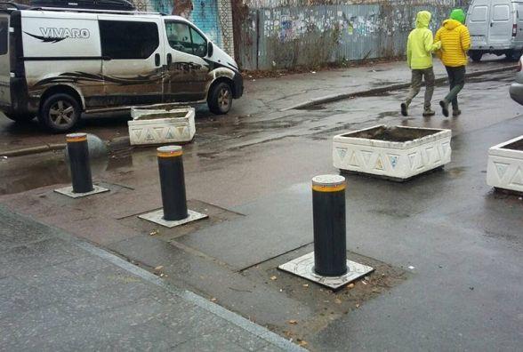 На єдиній пішохідній вулиці Житомира запрацювали перші боларди