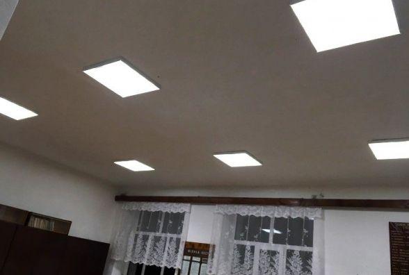 У школі Любарського району влаштували світлодіодне освітлення
