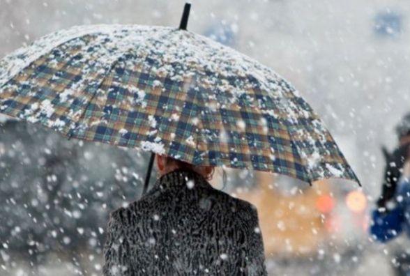 Прогноз погоди на сьогодні: сніг, у другій половині дня - дощ