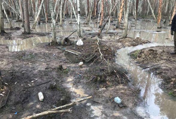 Незаконному видобутку бурштину на Олевщині завадила поліція