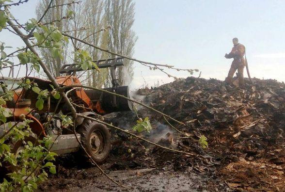 У Бердичеві на території деревообробного підприємства горіли відходи деревини