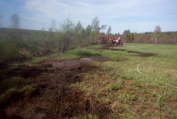 В Олевському районі ліквідовано займання торфу на площі 0,05 га