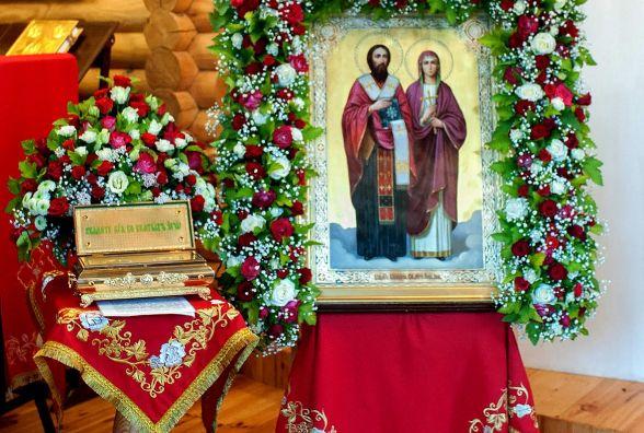 У Житомирі два тижні перебуватимуть мощі  священомученика Киприяна та мучениці Іустини. ВІДЕО