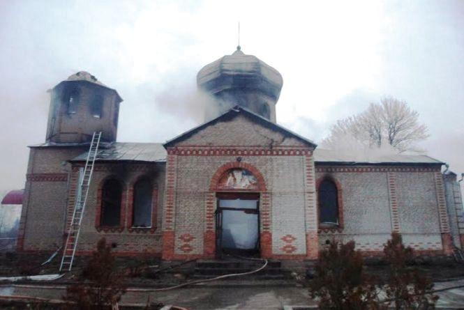На Житомирщині згоріла церква