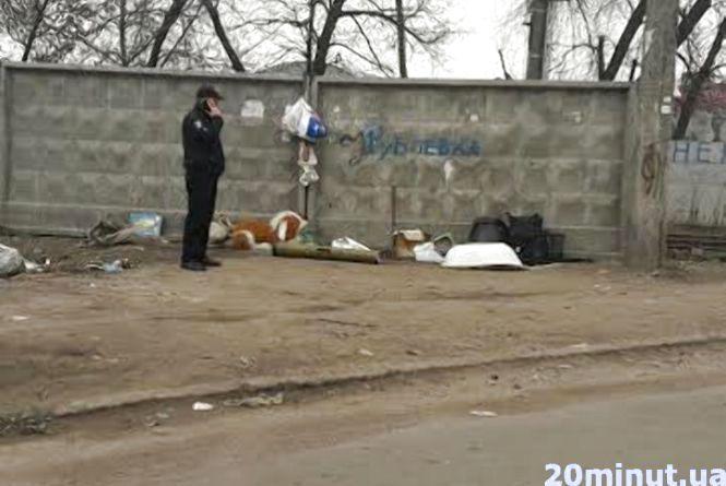 Фотофакт. У Житомирі на смітнику знайшли тубус від гранатомета