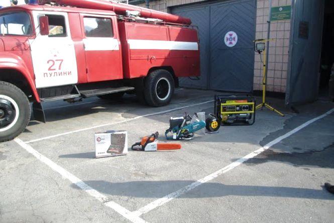 Житомирщина: рятувальники Пулинщини отримали нове рятувальне обладнання