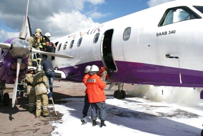 """В аеропорту """"Житомир"""" """"горів"""" літак"""