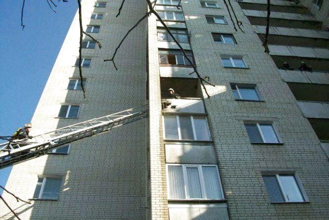 У Житомирі горіла 14-поверхівка