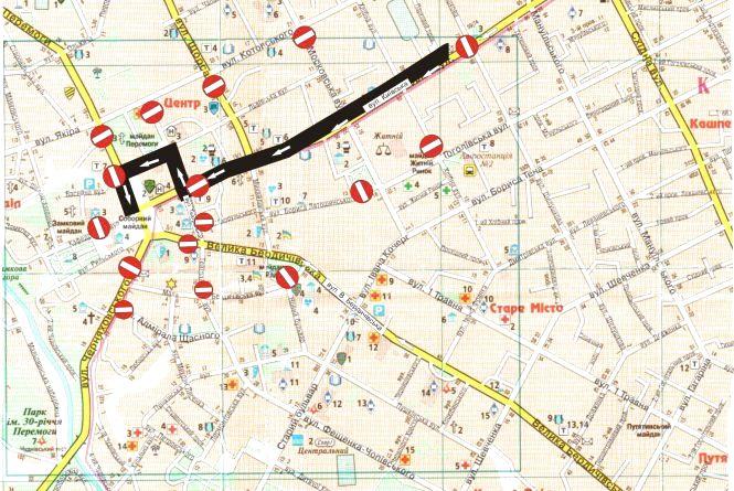 Під час святкування Дня Житомира буде перекрито рух транспорту: перелік вулиць