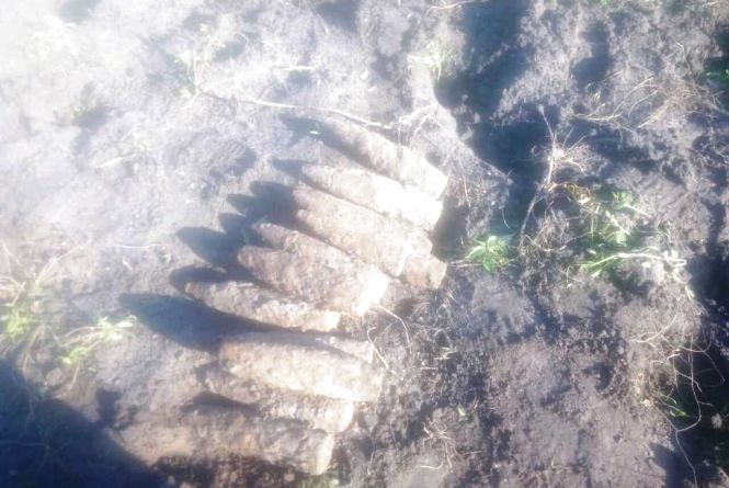 У Бердичівському районі селянин знайшов на городі 26 артилерійських снарядів
