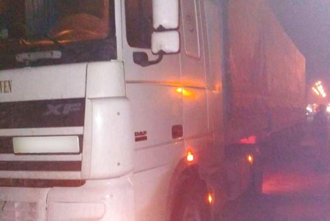 Вантажівку з деревиною невідомого походження затримали на автодорозі патрульні поліцейські