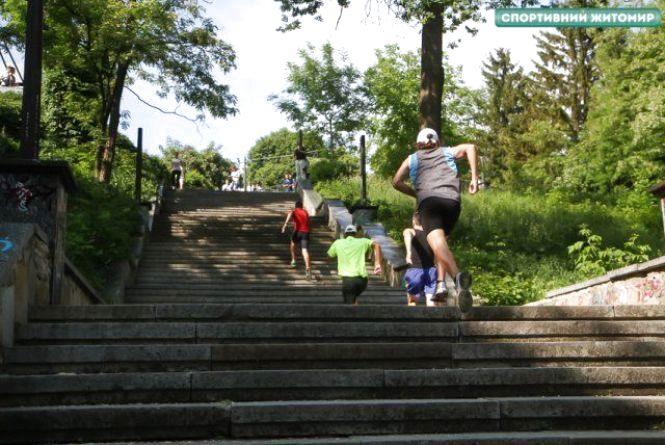 В Житомирі вперше відбувся забіг по сходах Шодуара