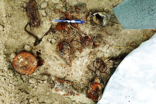 Відразу 18 боєприпасів часів минулих війн знайшли у Малинському районі