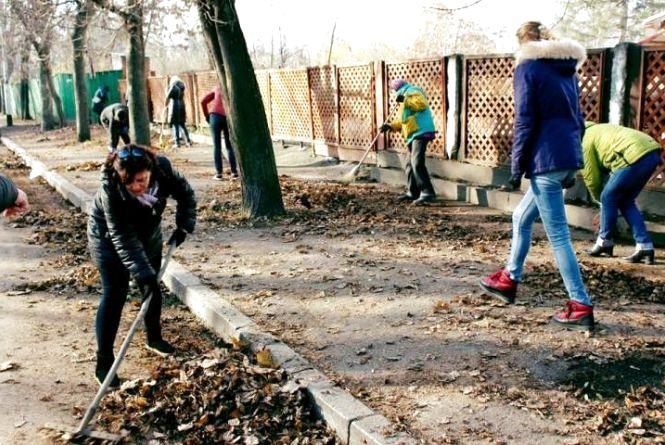 Житомирські бібліотекарі навели лад у парку ім. Ю. Гагаріна