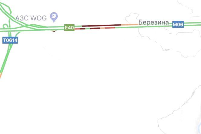 На 125 км автодороги «Київ - Чоп»  ускладнено рух у зв'язку з протестами