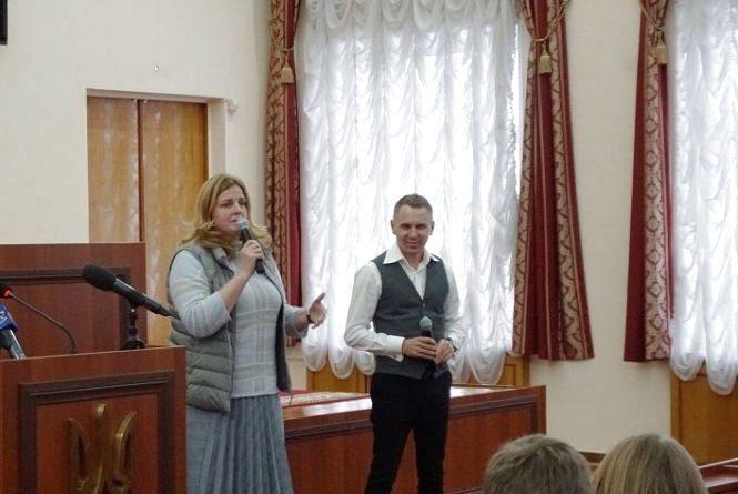 Олександр Авраменко провів майстер-клас із культури мовлення у Житомирі