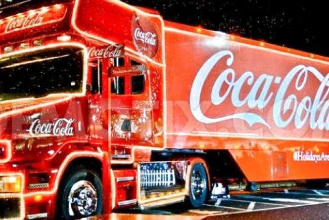 Новорічна вантажівка Coca-Cola в Житомирі