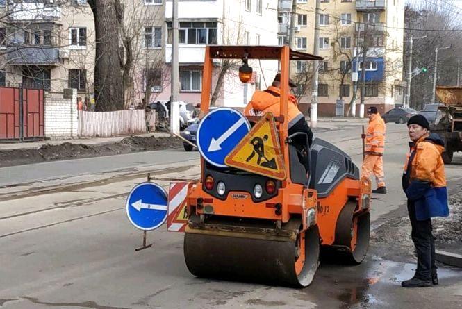 У Житомирі розпочали ямковий ремонт доріг