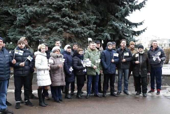 Житомиряни провели флешмоб на підтримку полонених українських моряків