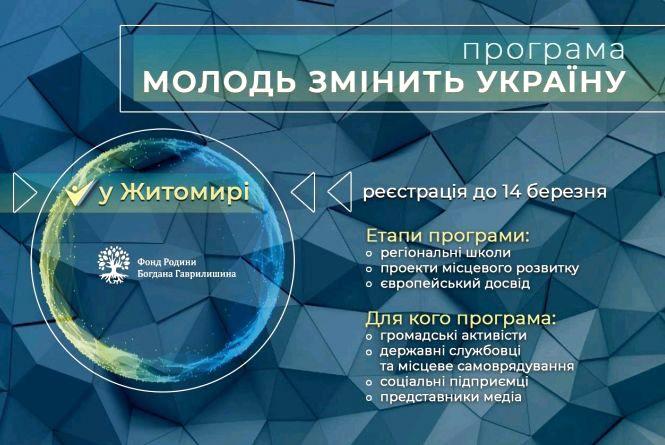 Оголошується набір для участі в програмі «Молодь змінить Україну»
