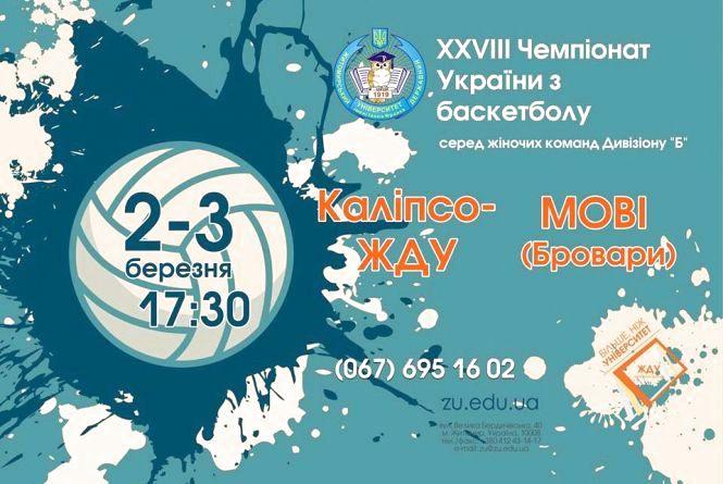 Житомир прийматиме 12 тур Вищої баскетбольної ліги України