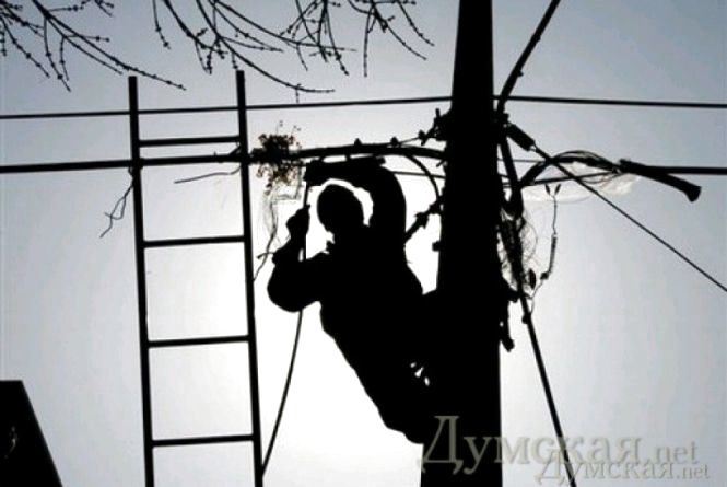 Найбільше відключень електрики через штормовий вітер було в Коростишівському районі