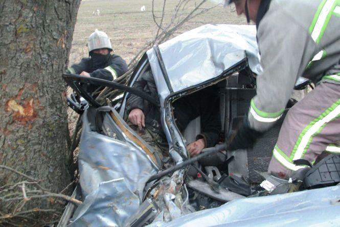 ДТП у Пулинському районі: водій загинув, пасажира довелося вивільняти з понівеченого авто рятувальникам