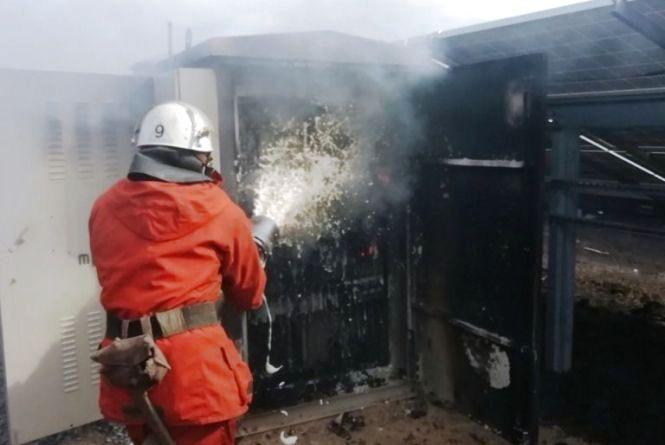 У Бердичівському районі виникла пожежа на сонячній електростанції