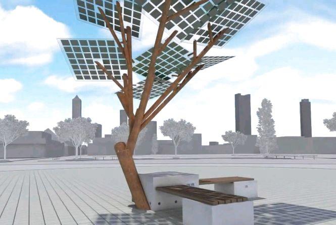 """У гідропарку виростуть """"Сонячні дерева"""" для зарядки гаджетів"""