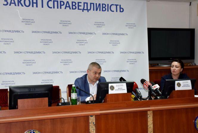 На брифінгу у прокуратурі Житомирщини журналістів поінформували про досудове розслідування вбивства подружжям своєї рідної 5-річної доньки