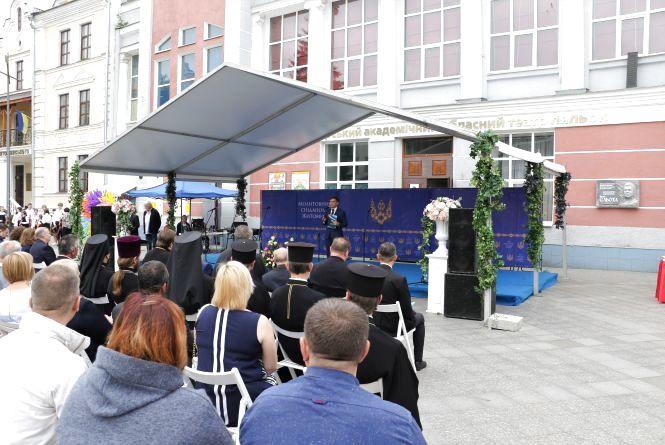На Михайлівській житомиряни та почесні гості  виконали спільну молитву за Перемогу і Мир в Україні