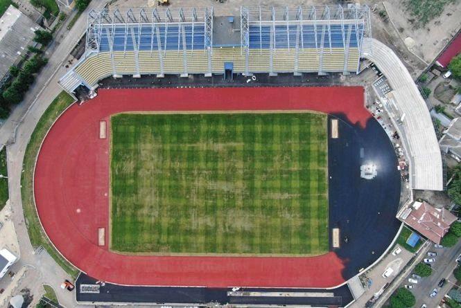 На стадіоні «Полісся» завершені основні роботи на ядрі