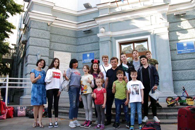 Діти учасників АТО  повернулися з подорожі Європою
