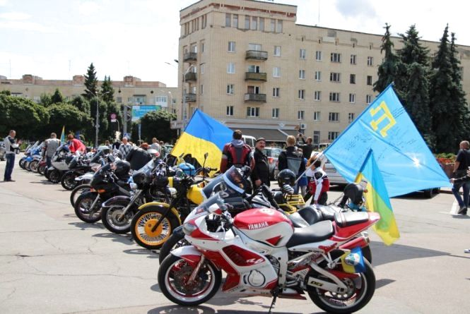 Учасники «Мотопробігу єдності - 2019» завітали у Житомир