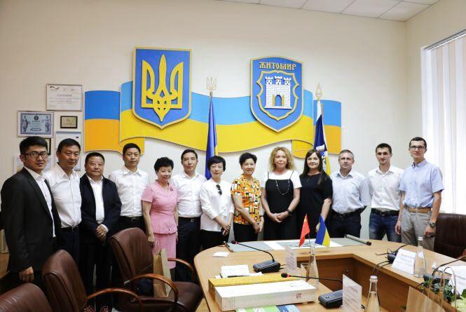 Сьогодні у Житомирі перебуває делегація з Китаю